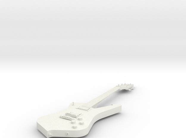 Guitar - Iceman in White Natural Versatile Plastic