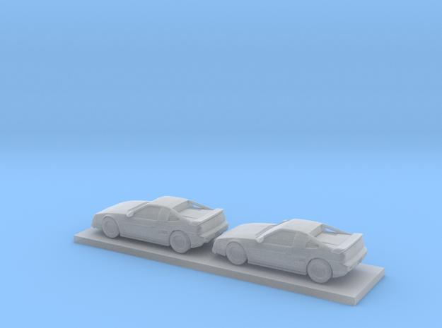 1/220 1986-88 Pontiac Fiero Fast Back in Smooth Fine Detail Plastic