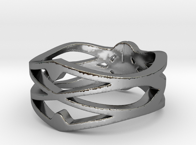 My Awesome Ring Design Ring Size 10 in Fine Detail Polished Silver