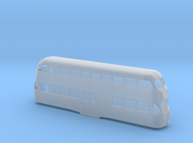 N Scale Blackpool Balloon Tram - 701 Post 1991 in Smooth Fine Detail Plastic