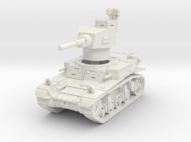 M3 Stuart early 1/56 in White Natural Versatile Plastic
