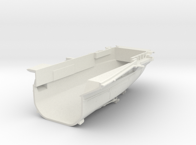 1/600 CVS-11 USS Intrepid Stern in White Natural Versatile Plastic