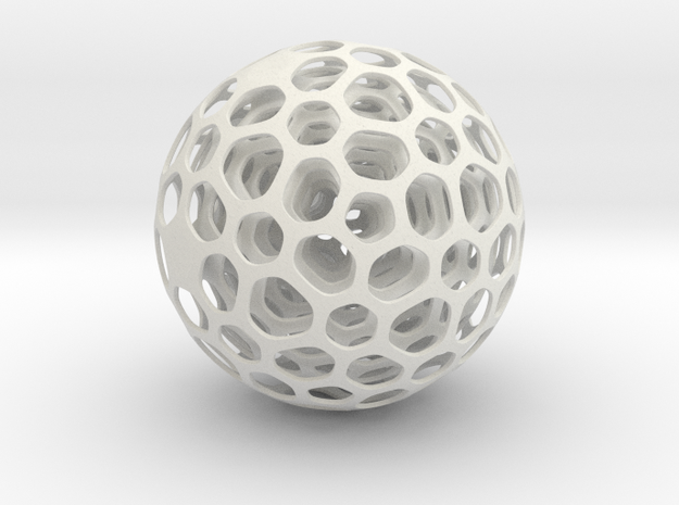 Kinetic Sculpture Ball in White Strong & Flexible