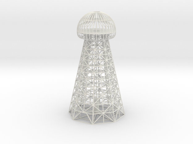 Tesla Tower 13 In in White Natural Versatile Plastic