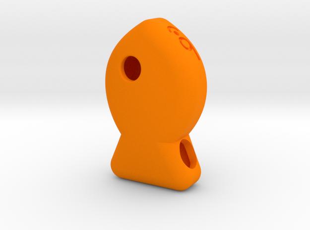 Lil Gold Fish Pendant in Orange Processed Versatile Plastic