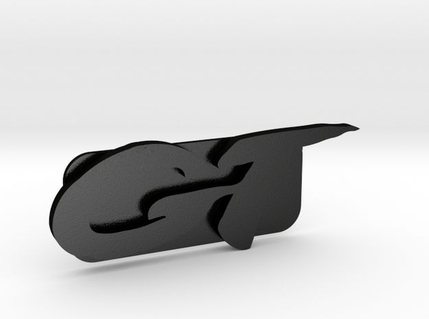 Jimmy GT Glove-box Emblem in Matte Black Steel