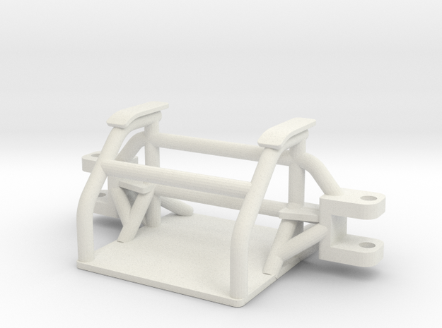 Custom front axle for pulling tractor in White Natural Versatile Plastic