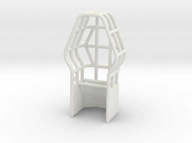 Roll Cage Diamond Shape in White Natural Versatile Plastic