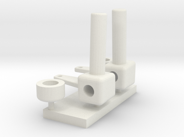 Custom Front Axle Spindles #2 in White Natural Versatile Plastic