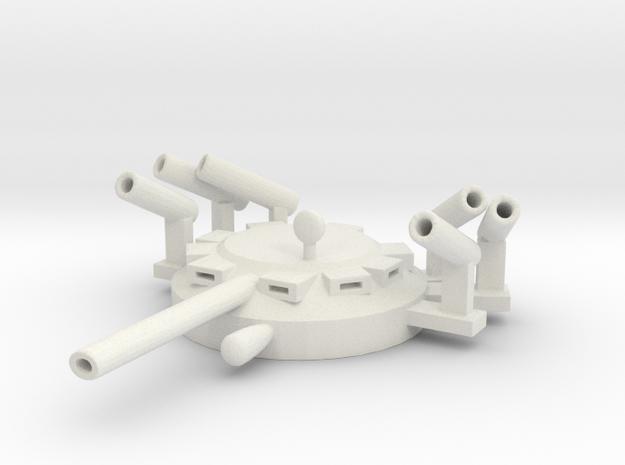 TurretCadillacV150v3 in White Natural Versatile Plastic