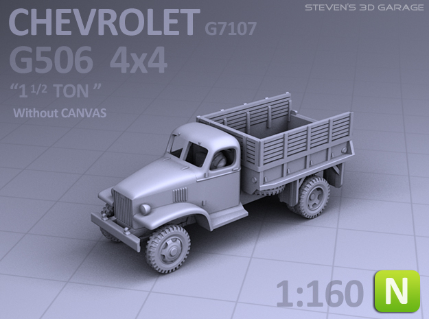 Chevrolet G506 4x4 Truck (no canvas) - (N scale)