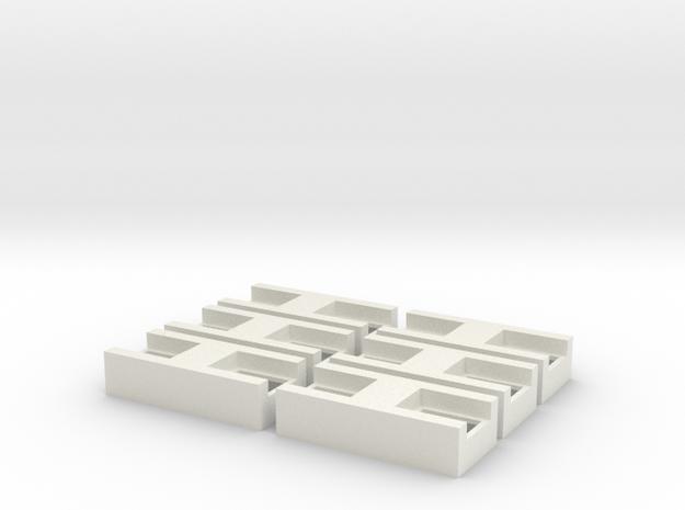 Generic 18mm x 40mm x 10mm Dual Speaker in White Natural Versatile Plastic