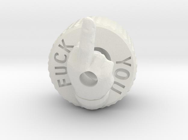 Fuck You Backcap Emek/Etha2/MG100  in White Natural Versatile Plastic