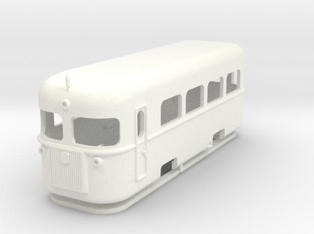 Littorina - Freelance Railcar H0e in White Processed Versatile Plastic