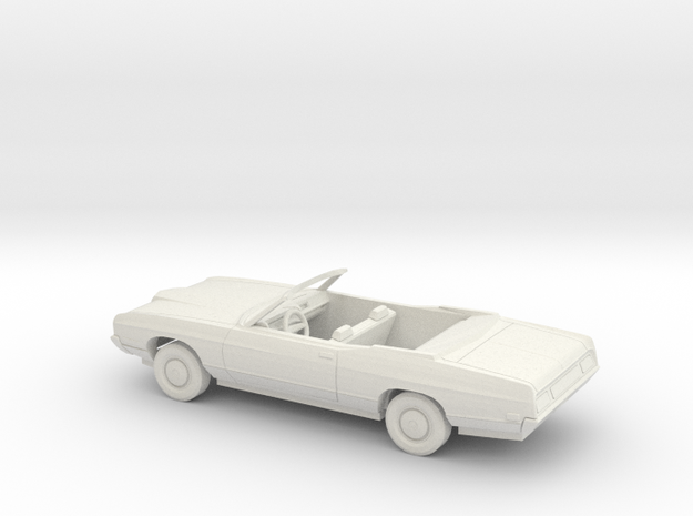 1/43 1971 Ford LTD Convertible Kit in White Natural Versatile Plastic