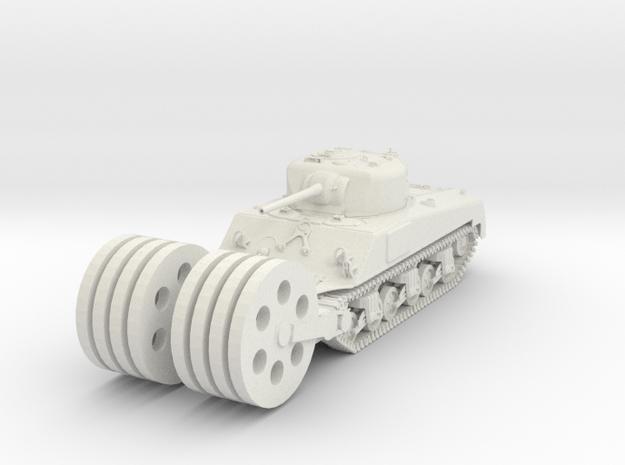 1/48 Scale M4 Sherman Mine Roller in White Natural Versatile Plastic