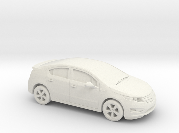 1/43 2013 Chevrolet Volt in White Natural Versatile Plastic