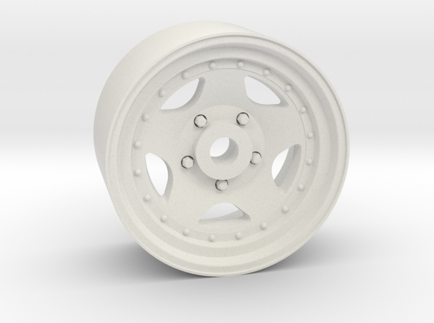 Star 50 18x9mm 4x1mm Hex OS -0.5 BS 4 in White Natural Versatile Plastic