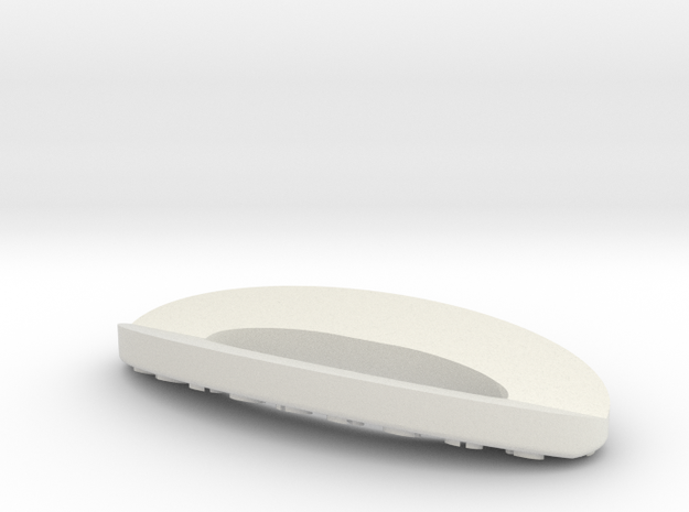 Higgins Strut Base center 24th scale v2 in White Natural Versatile Plastic