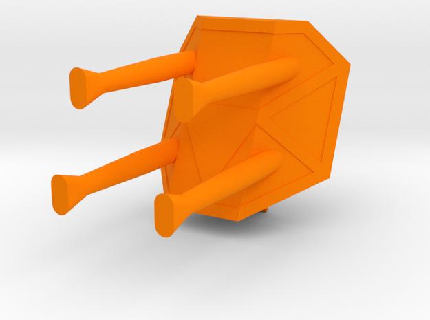 Starcom - Blast Track - Turret FLAK Turbolaser in Orange Processed Versatile Plastic