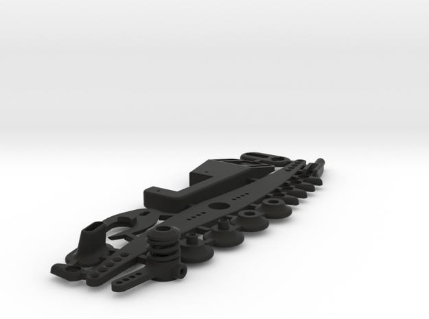 NMM boat parts set with servoplate in Black Natural Versatile Plastic
