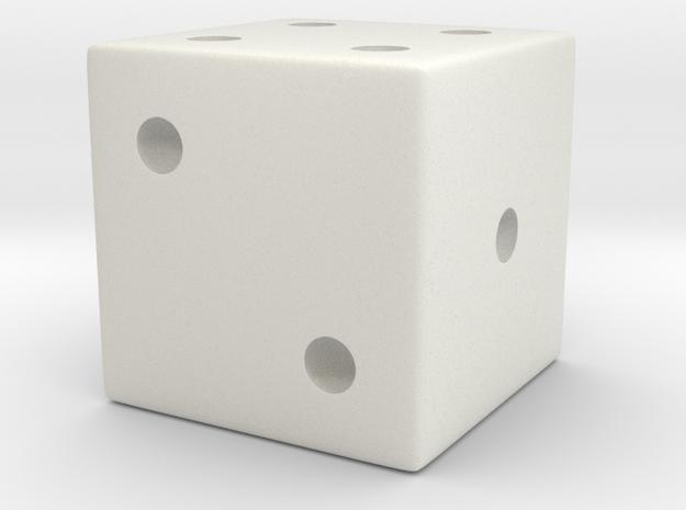 Standard Die in White Natural Versatile Plastic: Small