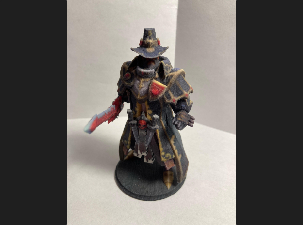 Kunkka in Grand Witch Templar Set in Natural Full Color Sandstone