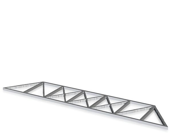 Trestle Bridge Side 3d printed
