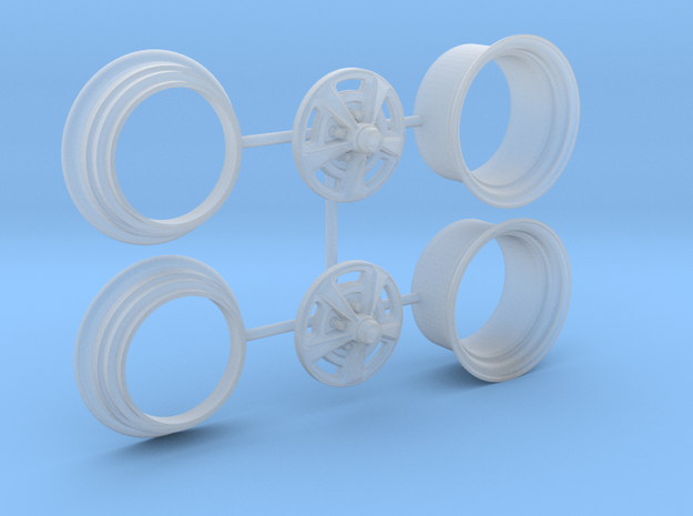1/25 HQ GTS Wheels 10x14 2up 3pc in Smooth Fine Detail Plastic