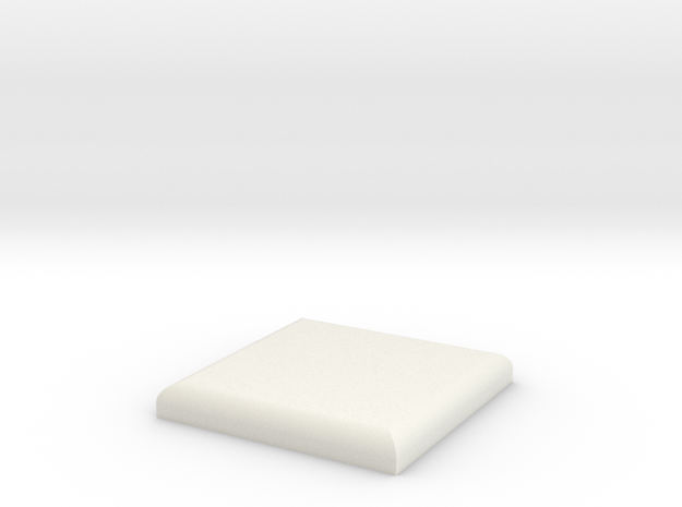 Vader OT Chest Plate (blank) in White Natural Versatile Plastic