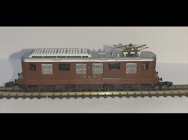 BLS Ae 4/4 251 in Smooth Fine Detail Plastic