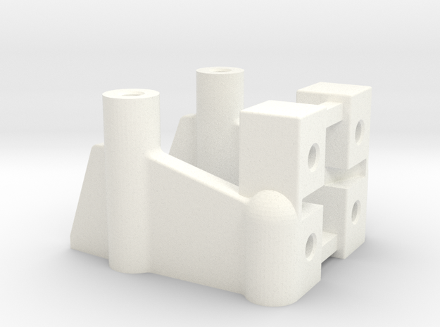 NIX92002 Graphite chassis front adapter in White Processed Versatile Plastic