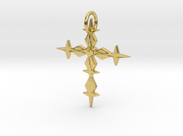 Metatronia Starlight Pendant in Polished Brass: Medium