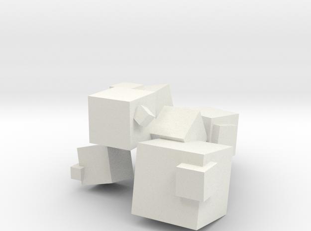 Cubes in White Natural Versatile Plastic