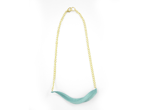 Arithmetic Necklace (Bar) 3d printed Custom Dyed Color (Teal)