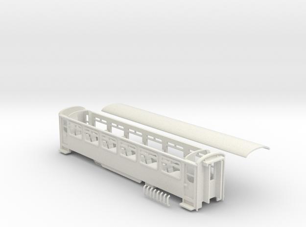FR Aluminium 3rd class coach NO.122 new end doors in White Natural Versatile Plastic