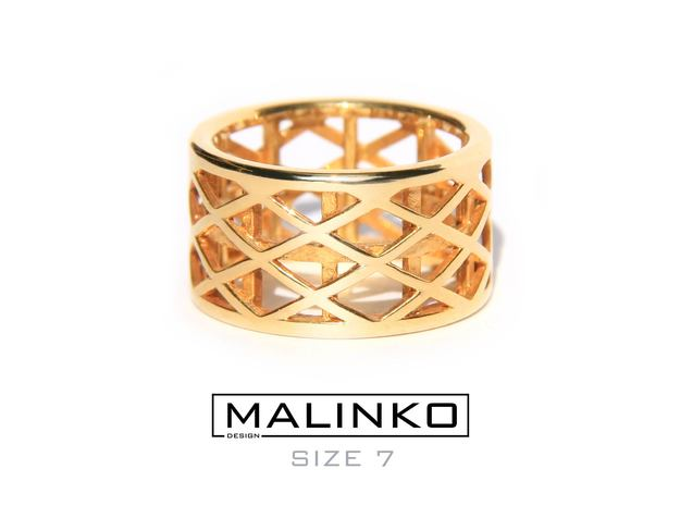Archi Ring Size 7 (17.3 mm) in Polished Brass