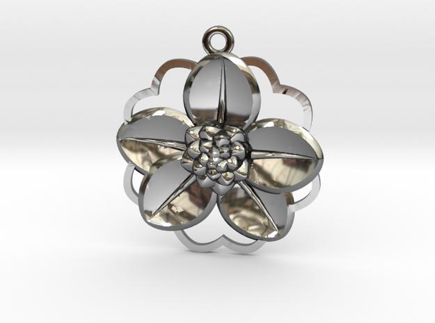 Flaurea-5-8 in Fine Detail Polished Silver