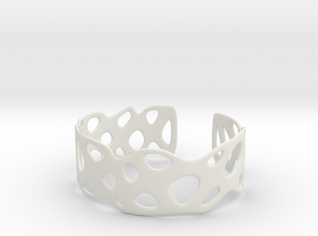 Cellular Bracelet Size M in White Natural Versatile Plastic