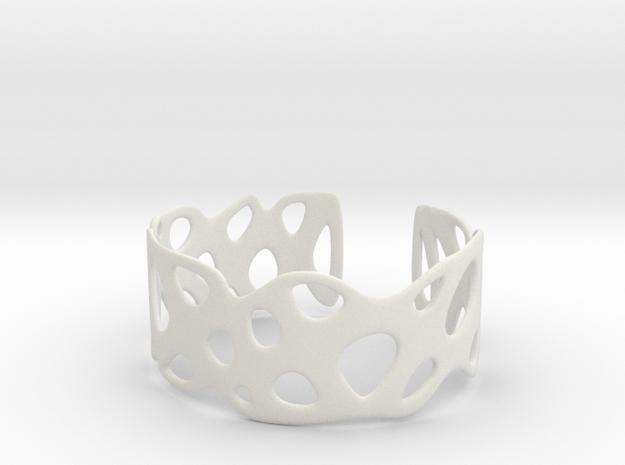 Cellular Bracelet Size S in White Natural Versatile Plastic