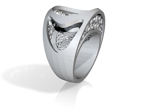 bone and plastic ring 3d printed