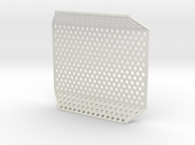 Pi Case Mesh in White Natural Versatile Plastic