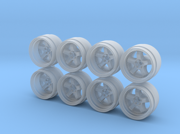 Meister S1 815-55 1/64 Scale Wheels in Smooth Fine Detail Plastic