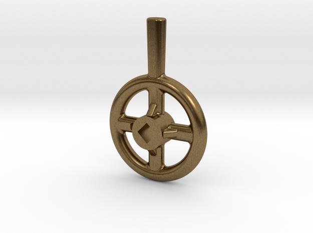 Steam Valve Handwheel - 1/2' dia. in Raw Bronze