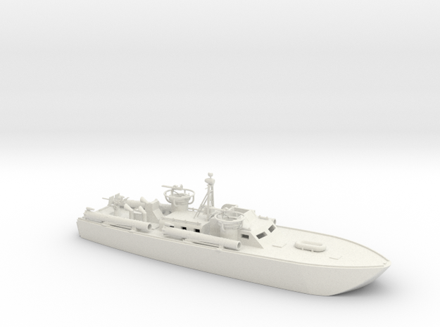 1/96 Scale 80 ft Elco PT Boat Waterline in White Natural Versatile Plastic