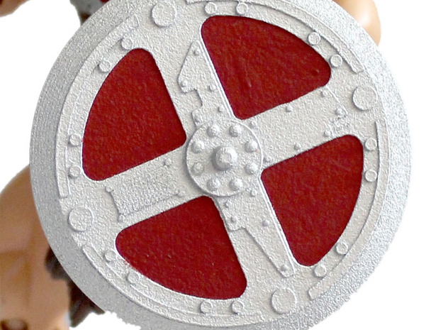 200x He-Man Shield in White Processed Versatile Plastic
