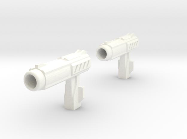 MP Autobot Hand Gun QTY 2 in White Processed Versatile Plastic