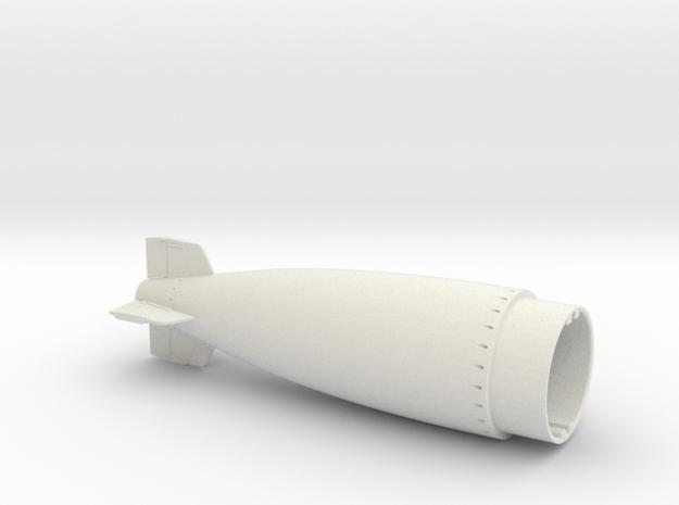 Torpedo USN mk8 tail 20th in White Natural Versatile Plastic