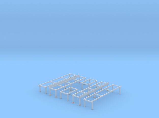 Railroad Roundhouse/Shop Work Platforms (HO Scale  in Smooth Fine Detail Plastic