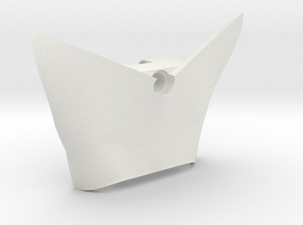 Back Plate | Technic in White Natural Versatile Plastic